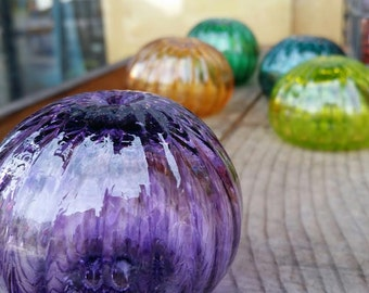 Blown Glass Sea Urchin Shell Sculpture 4 by AvalonGlassworks