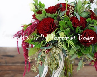 Styled Stock Photography | Styled Photo | Floral Photography | Red Flowers | Digital Image | Product Photography