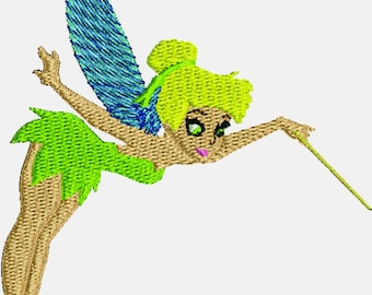 Tinker bell machine embroidery design 3.5 x 3.6