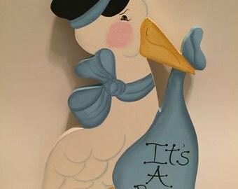 """Bundle of Joy """"It's a Boy"""" stork"""