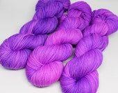Hand Dyed Tonal Sock Yarn - SW Sock 80/20 - Superwash Merino Nylon - 400 yards - Electric Pop