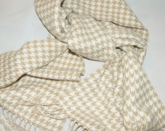 Checkerboard Houndstooth Acrylic Winter Scarf Muffler  0827