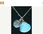 1 DAY SALE Avon PMC Blue Pendant necklace