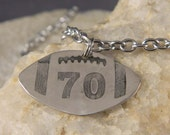 Reserved for Jane P Custom Football Number Necklace