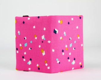 Fabric card holder - Dance pink / Cotton Candy / Dashwood studio / Mustard yellow pink navy blue teal blue white / Kite gems