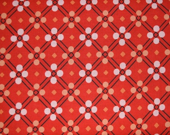SALE Red Picnic Blanket Fabric by Melody Miller for Cotton & Steel sold in 1/2 yard increments