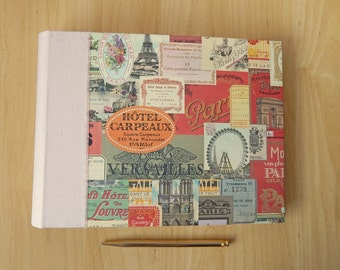 Paris Wedding Album - Blush Silk and Paris design Album for Wedding, Anniversary or Holiday Memories