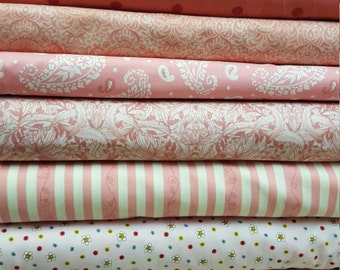 12 fat quarters in pinks