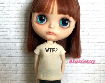 New - Off White Cotton Jersey T-Shirt for Blythe - WTF
