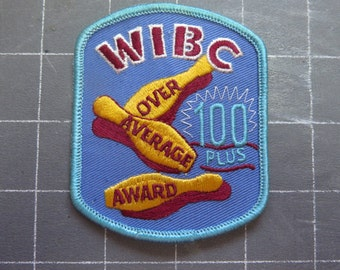 Vintage WIBC over average award 100 patch Bowling patch
