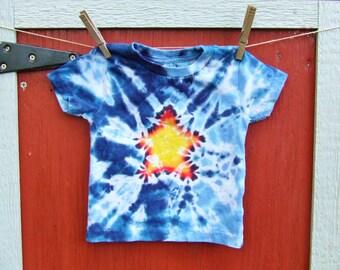 24m Baby Tie Dye T-Shirt - Super Star - Ready to Ship