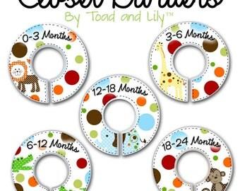 CLOSET DIVIDERS Polka Dot Jungles Bedroom and Baby Nursery Art Decor CD0029