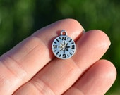 10  Silver 16mm Compass Charms SC3715