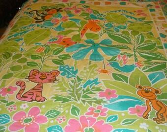 Baby Quilt~~ Bright Jungle Animals