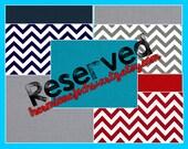 Reserved: Custom Chair Pockets for aezawod123