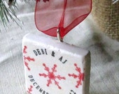 LOVESALE Personalized Red Snowflake Ornament - Christmas - Gift Box