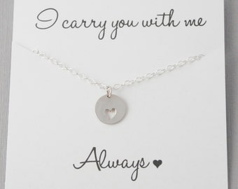 Miscarriage Necklace, Infant Loss Jewelry, Heart necklace, Sympathy gift,