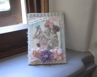 Friendship Card - Victorian Mother Daughter Card - Handmade Card Mom - Handmade Card Daughter