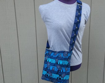 Doctor Who  Police Box Worp Crossbody Shoulder Bag
