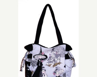 ON SALE - Ghastlies Ghastly Witches - Handbag, Purse, Tote, Shoulder Bag, Adjustable Strap, Outside Pockets