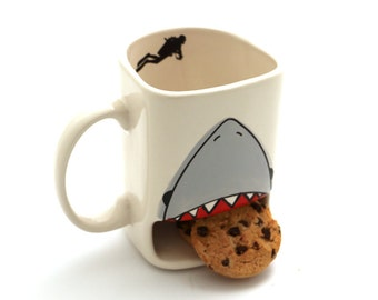 Shark week - cookie mug - shark dunk mug - Live every week like it's shark week mug - funny gift for cookie lover