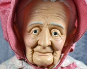 if your granny lives too far away invite this one to your home...  antique 1927 doll... collectible... toy... Home Decor...   T4