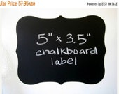 SALE- 6 Chalk Labels® Large Fancy Style Chalkboard Labels, Chalkboard Stickers- 5 inches