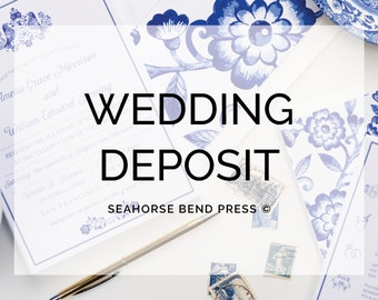 Deposit for 2016 Wedding Schedule for an Invitation Collection