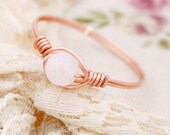 Peace and harmony - Petite rose quartz wire wrapped ring (SR)