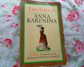 Anna Karenina by Leo Tolstoy Translated from Rusian thick vintage paperback 1978