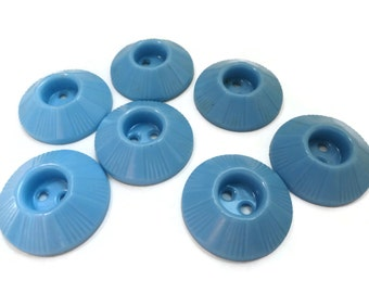 Sky Blue Vintage Buttons 3/4 inch 19mm for Sewing Knitting Jewelry Beads