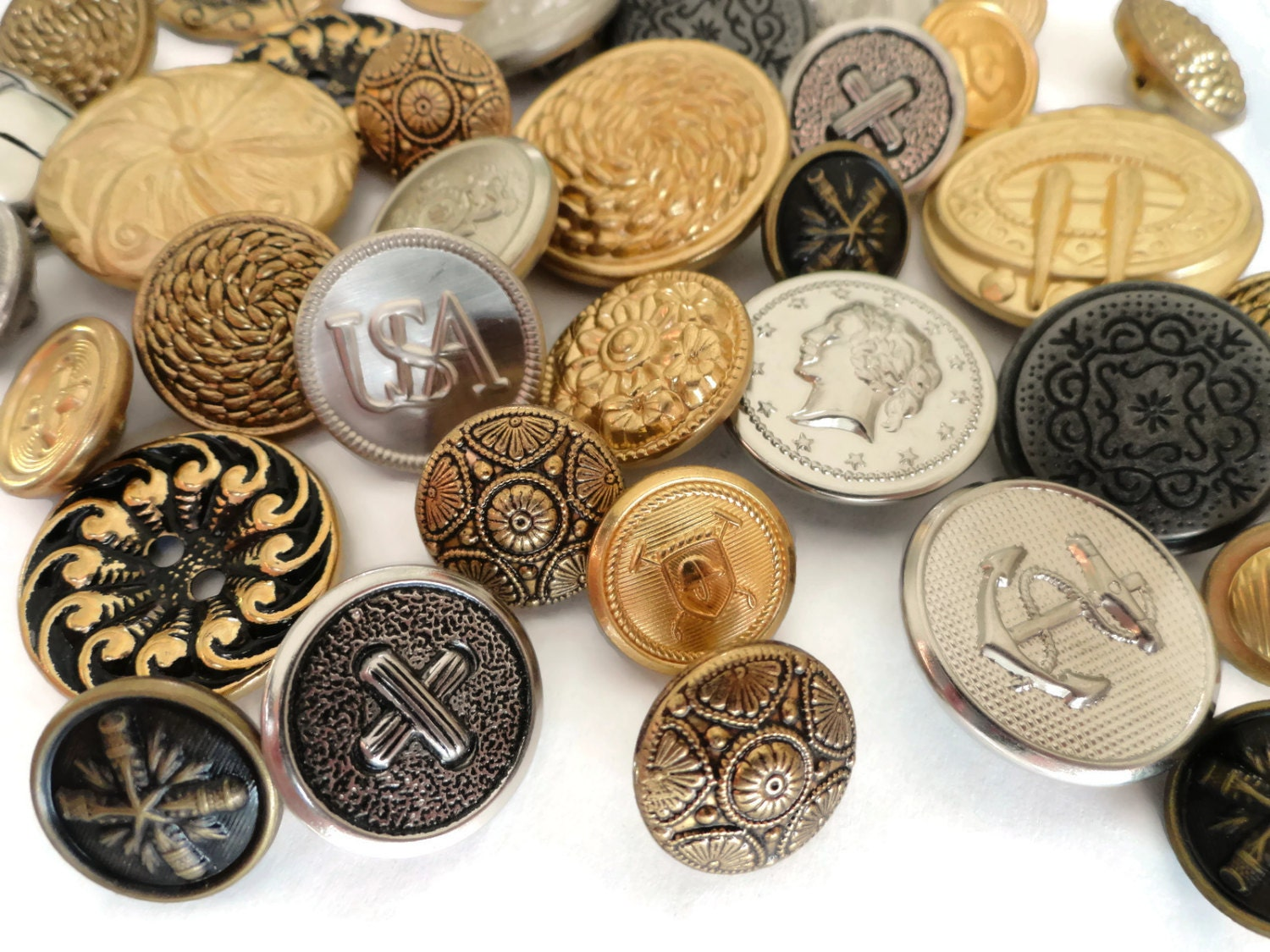 Vintage Silver Buttons 75