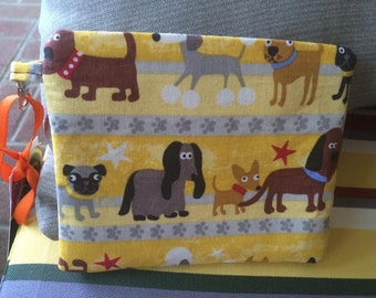 Dogs, dog treat pouch, pouch, velcro pouch