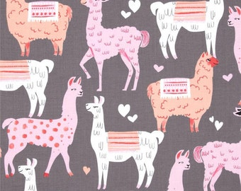 Michael Miller Packmates CX6710 Cotton Fabric Llama, Alpaca Print! By The Yard!