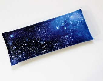 Eye Pillow, Night Sky Galaxy Outer Space, Headache Relief Cold Pack Flaxseed Pillow