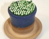 Ceramic Match Striker Fireplace accessories candle lighter Matt Blue In Stock Ready to Ship