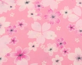 2658A -- Japanese Cherry Blossoms in Pink, Sakura Fabric, Spring Flower, Flower Fabric