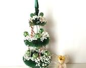 SALE 20% OFF NON-Linens Rare Vintage Mercury Glass Christmas Tree Bottle Brush Chenille Angel Shiny Brite Ornament Japan