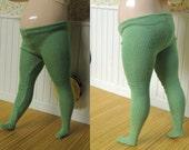 Tights for Chubby Blythe, Mimi Bobeck doll, Plus sized Blythe, Light Green #3