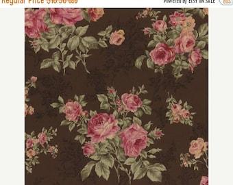 SALE Lecien Antique Roses Spring 2015 Rose bouquets on brown print 31148L-80 1 yard