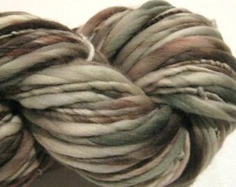Handspun Yarn Spectral 112 yards hand dyed merino wool grey gray black Halloween yarn waldorf doll hair knitting supplies crochet supplies