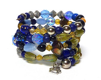 MOON BEAM COVE coil Beaded Bracelet by Beading Divas Fundraiser