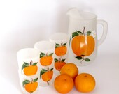 RESERVED FOR Hou LuJiE - Vintage Gay Fad Orange Juice Set Mid Century