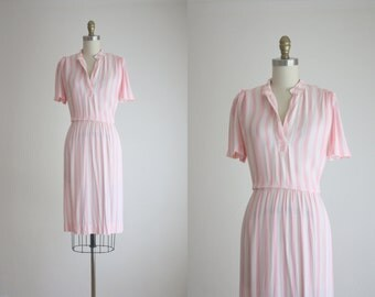 1960s pink stripe dress