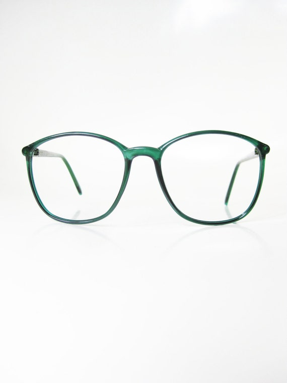 vintage lacoste eyeglasses 1980s green round wayfarer womens ladies girls indie hipster glasses eyeglass frames emerald