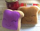 Plush PB&J Peanut butter and Jelly Best Friends BFF Stuffed Toy
