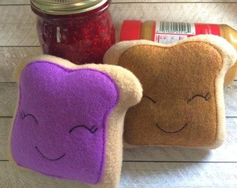 Plush PB&J Peanut butter and Jelly Best Friends BFF Stuffed Toy