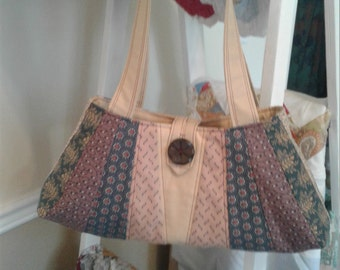 Quilted Hand bag in Civil War Reproduction Fabrics