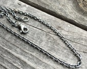 Sterling Silver Mens Chain Necklace Wild Prairie Silver Jewelry Handmade Jewelry by Joy Kruse