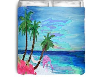Pretty Flamingo comforter from my art
